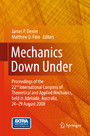 Mechanics Down Under - Proceedings of the 22nd International Congress of Theoretical and Applied Mechanics, held in Adelaide, Australia, 24 - 29 August, 2008.